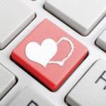 Valentine symbol on keyboard — Stock Photo #63542745