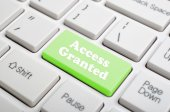 Access granted on keyboard — Stock Photo