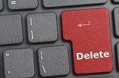 Delete key on keyboard — Stock Photo