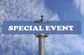Special event road sign — Stock Photo
