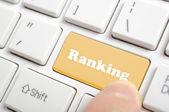 Pressing ranking key on keyboard — Stock Photo