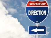 Direction road sign — Stock Photo