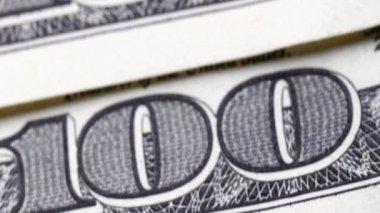 Close up one hundred US dollar bills — Stock Video