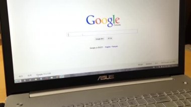 Searching business on Google — Stock Video