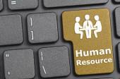 İnsan kaynakları anahtar üstünde klavye — Stok fotoğraf