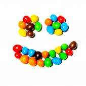 Smile colored candies — Stock Photo