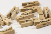 Wooden clothes pegs — Stock Photo