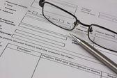 Close-up de um formulário de candidatura — Fotografia Stock