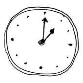 素描的时钟 — 图库矢量图片