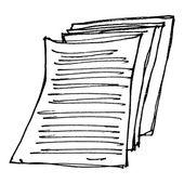 Set of cartoon style notebook — Stock Vector