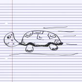 Simple doodle of a tortoise — 图库矢量图片