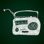 Simple doodle of a radio — Stock Vector