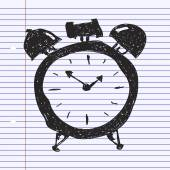Simple doodle of an alarm clock — Stock Vector