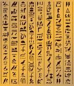 Hieróglifos egípcios — Fotografia Stock
