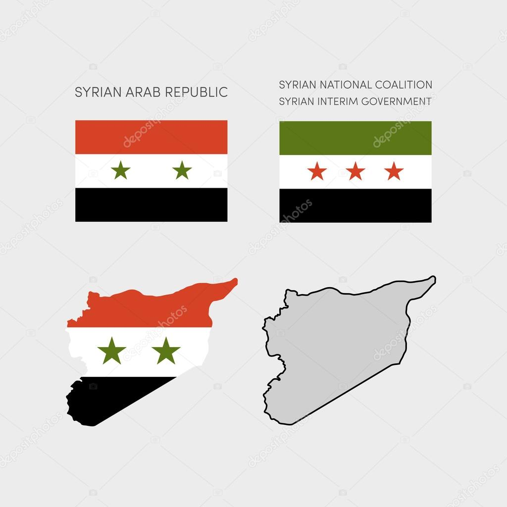 Simple map of Syria — Stock Vector #105380330
