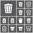 Recycle bins icons — Stock Vector #56897815