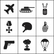 Military, army, war icons — Stock Vector #56899139