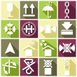 Logistics, trucking industry icons — Stock Vector #56899433