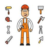 Builder woman — Stock Vector