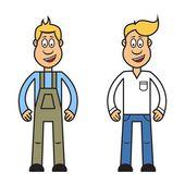 Cartoon character of man — Stock Vector