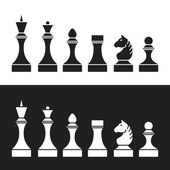Set of chess pieces — Stock Vector