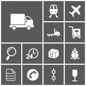 Logistics,   delivery icons — Stock Vector