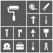 Tools, construction icons — Stock Vector
