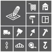 Construction, building icons — Stock Vector