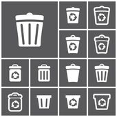 Recycle bins icons — Stock Vector
