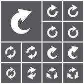 Repeat, refresh icons — Stock Vector