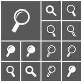 Search, look for icons — Stock Vector