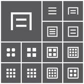 Menu, website icons — Stock Vector