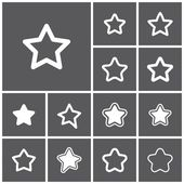 Favorite, favourite icons — Stock Vector