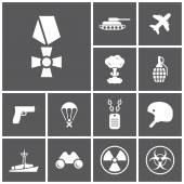 Military, army, war icons — Stock vektor