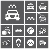 Taxi, car, cab icons — Stock Vector