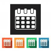Business, planning, calendar icons — Stock Vector