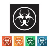 Biohazard, dangerous icons — Stock Vector