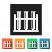 Test-tubes, vials icons — Vecteur