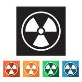 Radioactivity, danger, radiation icons — Stockvektor