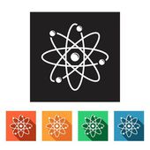 Physics, chemistry icons — Stock Vector
