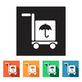 Freight, delivery icons — Stock Vector