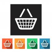 Grocery basket icons — Stock Vector