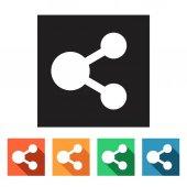 Social media iconen — Stockvector
