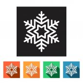 Winter snowflakes icons — Stock Vector