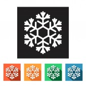 Winter snowflakes icons — Stock Vector