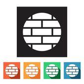 Bricks, brickwall icons — Stock Vector