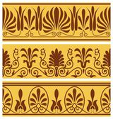 Greek seamless ornaments — Vetorial Stock