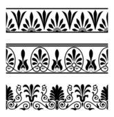 Greek seamless ornaments — Stock Vector