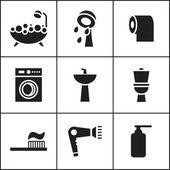Bathroom, WC, restroom  icon — Stock Vector