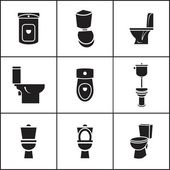 Wc, closet icons — Vector de stock